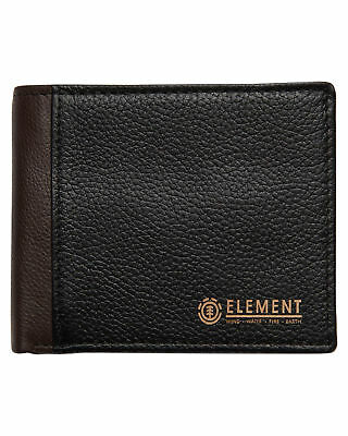 New Element Men's Sycamore Leather Wallet Black