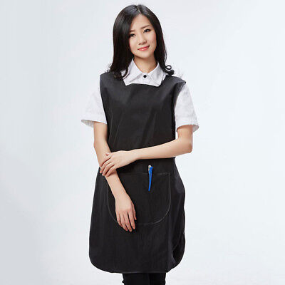 Chic Tabard Apron Lightweight Care Catering Sleeveless Workwear With Pockets