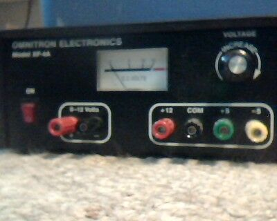 Omnitron Model XP-4A Adjustable Power Supply 5-12-24 V 0.5-1 A Used Only Once!