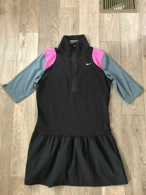 Women's NikeGOLF Tour Performance Dri-fit Dress, Size M, Black, EUC