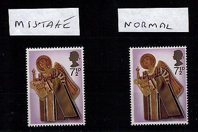 Error Major Shift Of Gold 1972 Xmas  Um Sg915