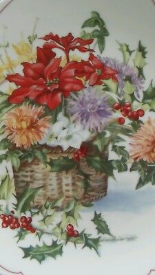 Vintage Royal Doulton Plate Winter Flowers 8 3/4""
