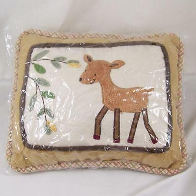 Lambs & Ivy Enchanted Forest Deer Pillow Baby Boy Girl Unisex Bedding Nursery