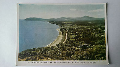 Bray Head,Killiney Beach,Vale of Shanganagh & Wicklow Mountains postcard c1950s