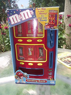 Mars Candy Vending Machine Bank 2004 M & M's Snickers Twix Skittles CDI Toys