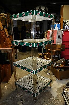 Vintage Mountain Dew Plastic 4 Tier Display Rack Lightweight But Sturdy