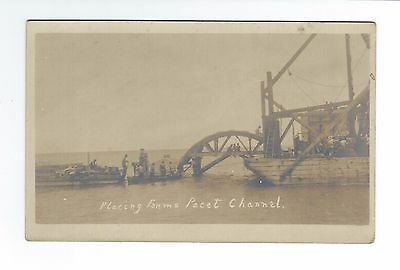 Real Photo Placing Forms Pacet Channel F.E.C.RY Postcard RARE