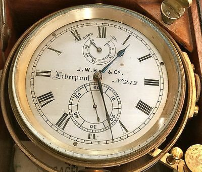 "Fine 1918 ships Chronometer ""J.W.RAY of LIVERPOOL"" identical to TITANIC CLOCK."