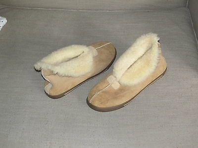 UGG Slippers Leather Light Brown Women's US 11 - #3772