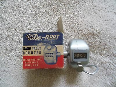 Vintage Veeder Root Hand held Counter Tally tested  Made In The U.S.A. 1915