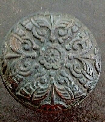 Antique Victorian Eastlake Brass Bronze Door Knob - Rare Ornate Design