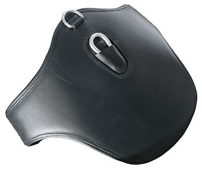 Premium Equestrian Horse Leather Padded Stud Guard Jumping Girth Black All Sizes