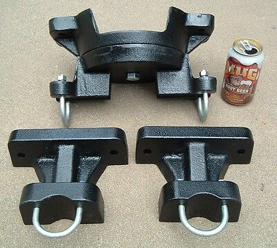 Antique Old Hit & Miss Gas Engine Cart Bolster Set Cast Iron Large Size