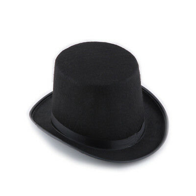 Fashion Halloween Hats Magician Magic Cosplay Jazz Top Hat Bucket Caps Black New
