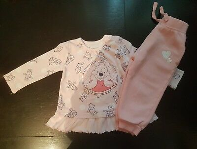 girl 12-18 months bundle pull on up trousers & tunic top Disney winnie pooh next