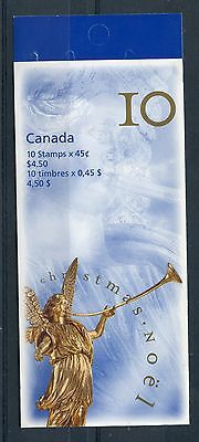 Weeda Canada 1764a VF MNH complete 1998 Christmas booklet, perf 13.1 CV $50