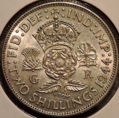 British Florin - 1944 - Big Silver Coin - $1 Unlimited Shipping