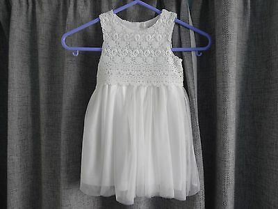 Beautiful Baby Dress 9-12 Mths Lace Tulle Ivory Christening Special Occasion