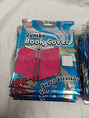 JUMBO BOOK COVER XXL super stretchy its academic PINK -MANY AVAILABLE FREE SHIP