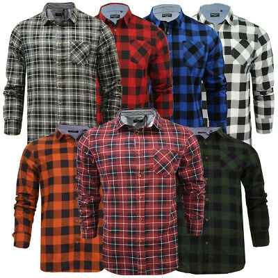 Mens or Kids Brushed Flannel Cotton Lumberjack Check Casual Shirt By Brave Soul