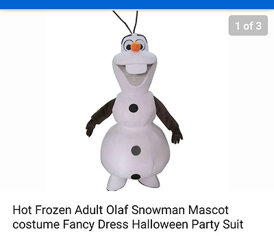 Kids Party Hire OLAF  (Frozen) Mascot Costume  O/N Hire