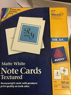 Avery Textured Heavyweight Note Card and Envelopes, 4-1/4 x 5-1/2, 50 per Box