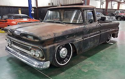 1960 Chevrolet C-10 Apache AIR RIDE 1960 Chevrolet Apache C-10 Big Back Window Short Wide Bed Pickup Air Ride BAGGED