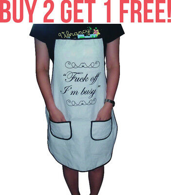 F*ck Off I'm Busy Novelty BBQ Kitchen Cooking Apron Kris Kindle Secret Santa