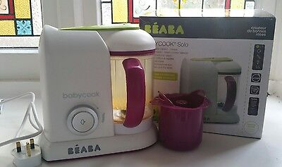 Beaba babycook Pro Solo baby food maker with Rice Cooker & Recipe Book