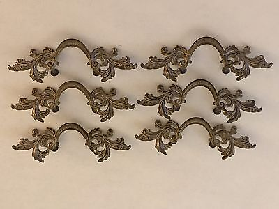 vintage French-Provincial-Drawer-Antique-white-with-Gold-pulls # 6