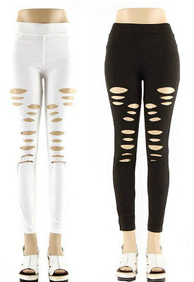 Distressed Style Black & White Leggings Wholesale Price (Lot of 12)