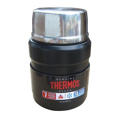 Thermos Stainless King™ Vacuum Insulated Food Jar w/Folding Spoon - 16 oz.