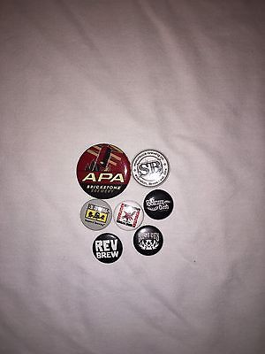 Lot of 8 or Craft Brewery Beer Advertising Pinback Buttons In Or Near Chicago