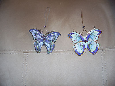 Lot of 2 Lena Liu Hanging Butterfly's