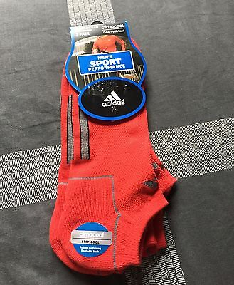 ADIDAS 2- Pair Men's Performance Climacool Socks RED Size 6 -12