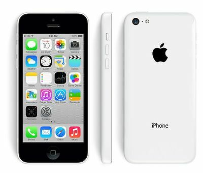 """Apple iPhone 5C 16GB GSM """"AT&T"""" Smartphone Cell Phone White"""