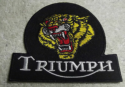 Embroidered cloth patch ~ Triumph Tiger.  B011101