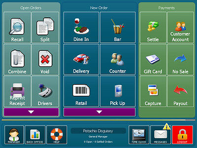 AMIGO POS SOFTWARE FOR RESTAURANT BAR PIZZA RETAIL  Version 8 NEW