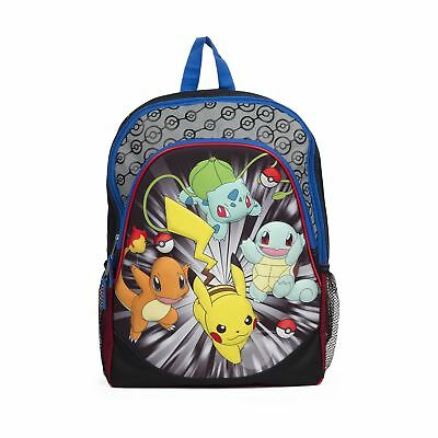 "Pokemon Backpack 3D 16"" Large U.S.A. Kid Boys School Bag New Free Shipping!!"