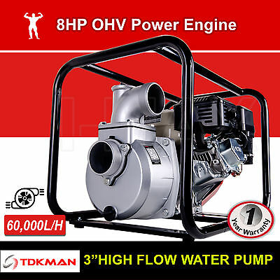 "TDKMAN 3 Inch 3"" Petrol High Flow Water Transfer Pump Fire Fighting Irrigation"