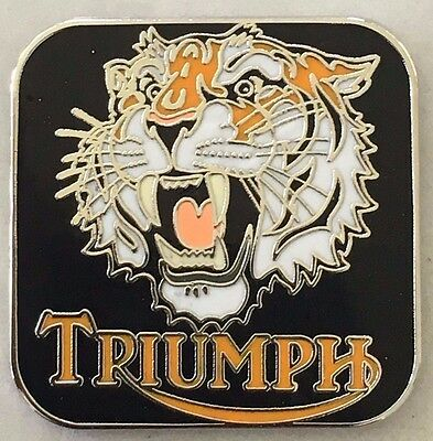 Lapel pin badge ~ Triumph Tiger head.  B011102