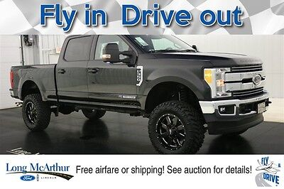 2017 Ford F-350 LIFTED LARIAT SUPER DUTY 4X4 CREW CAB MSRP $83365 4WD 4 DOOR POWERSTROKE SUPER DUTY NAVIGATION MOONROOF LEATHER