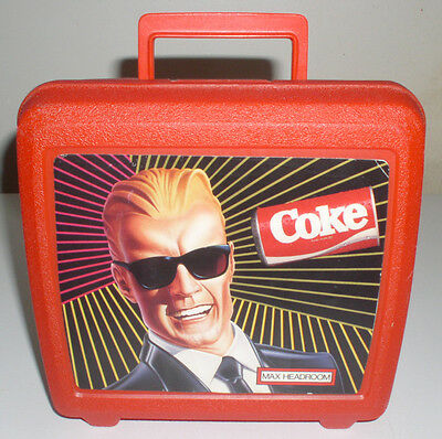 VTG Max Hedroom Coka-Cola Lunchbox From Aladdin From 1980's
