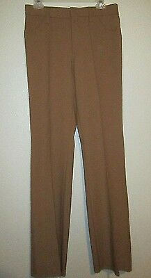 Vintage 70's H Bar C Ranchwear Womens Western Brown Polyester Pants Size Small