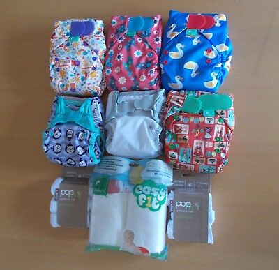 Bundle of Tots Bots and Pop In reusable nappies - beautiful designs, never used.