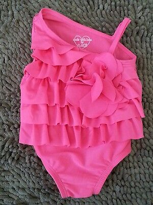 Children's Place*Pink Ruffled 1pc Swimsuit*Baby Girl 3-6m*EUC