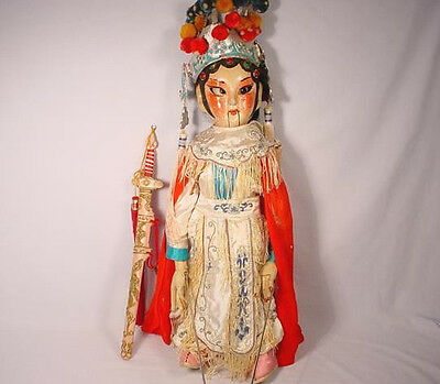 """Vintage Chinese Woman Opera Puppet Marionette 23"""""""
