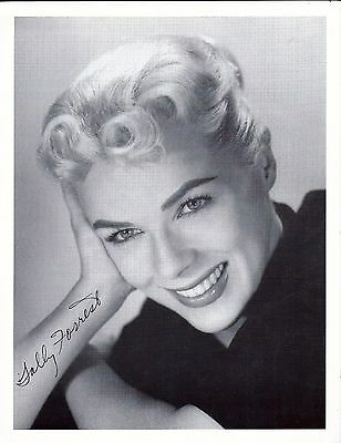 Sally Forrest actress autographed B&W 8x10 photograph