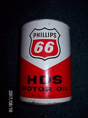 VINTAGE PHILLIPS 66 HDS ONE U. S. QUART of S A E  40 WEIGHT MOTOR OIL