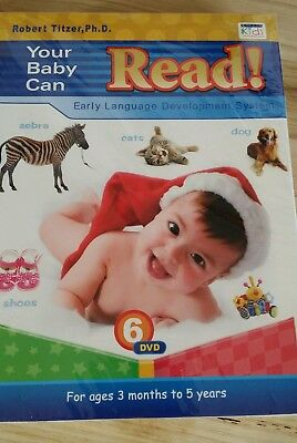 Your Baby Can Read 6 DVD early language development system by Robert Titzer